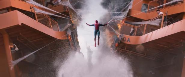 Spiderman Ferry scene